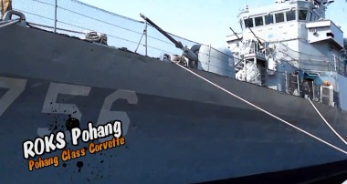 The ROKS Pohang, sister to the Cheonan warship.
