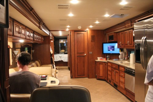 Inside a 40 foot Fleetwood RV