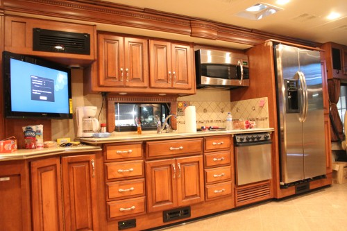 Full slide RV kitchen