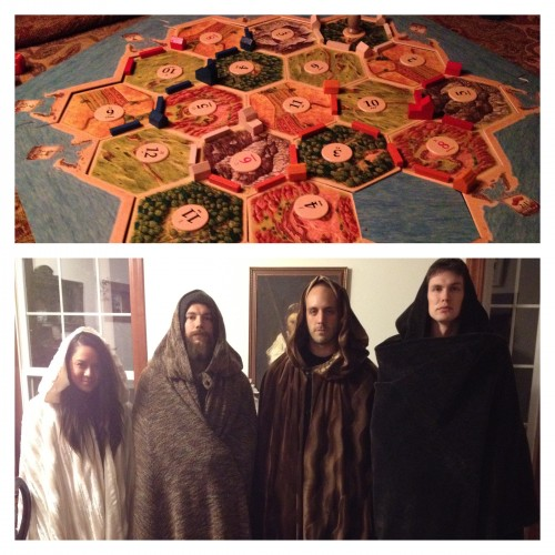The Hunger Games, Game of Thrones, Catan