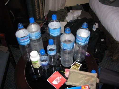hydrate before the summit of Kilimanjaro