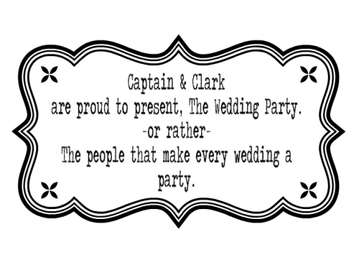A Captain and Clark Wedding