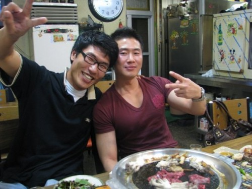 Taekwondo Master Che and Hapkido Master Sim.  When they drink, you drink... and they like to drink.