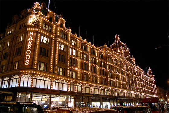 shopping in London in Harrods