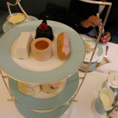 Getting fancy with London high tea.