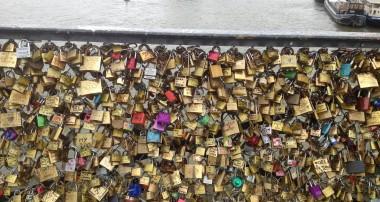 Keeping our love locked down in Paris.