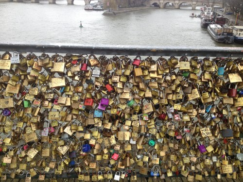 Keeping our love locked down in Paris.