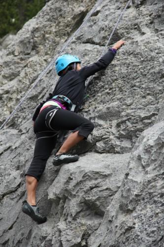 Yamnuska rock climbing