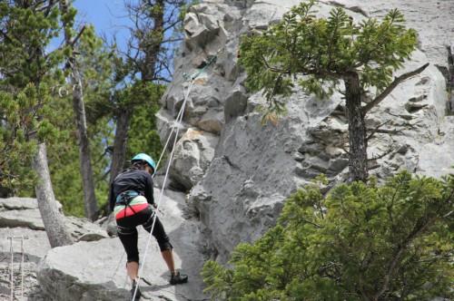 Canmore Yamnuska rock climbing