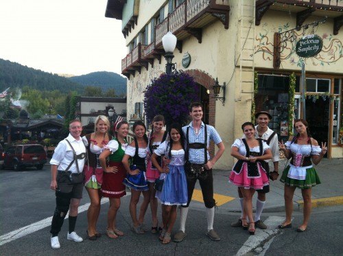 lederhosen in Leavenworth WA