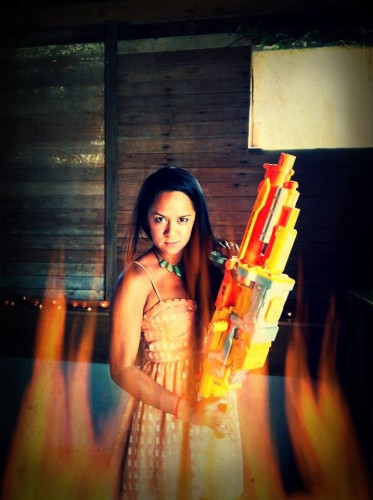 You discovered that you love to shoot people with NERF guns