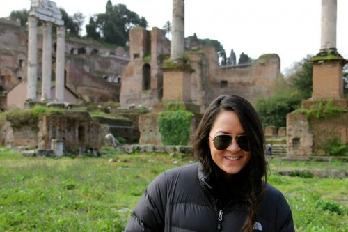 We lived in Rome for a week