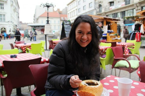 You got to try Hungarian goulash for the first time... in Hungary.