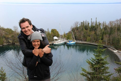 We sailed on lake Superior