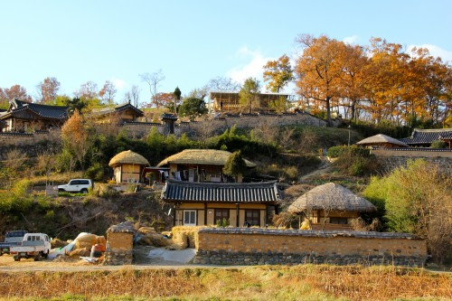old UNESCO village outside Pohang