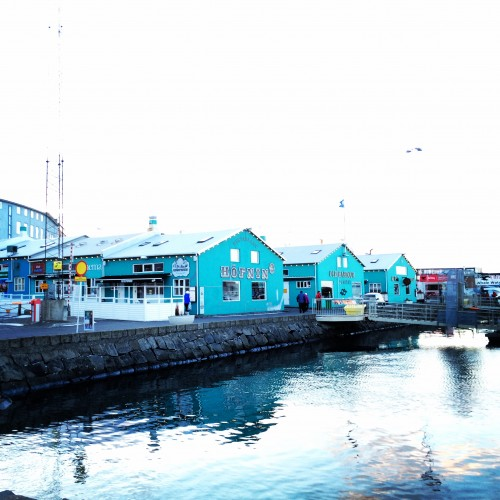 The wharf in Reykjavik is a great place for an evening walk.