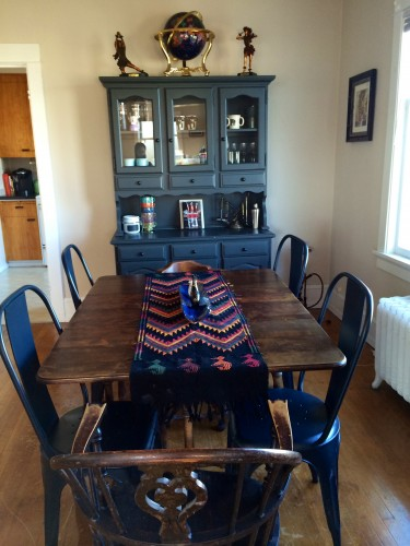 Our lovely dining room. The table has been in Chris' family for generations.
