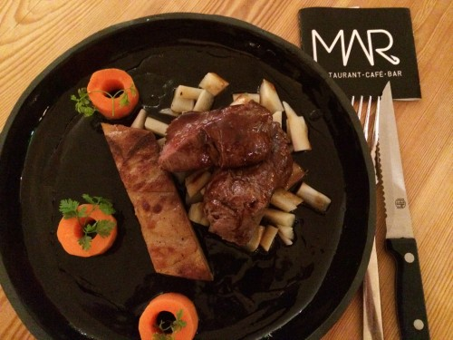 Our scrumptious dinner from Mar Restaurant.