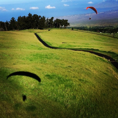 Catching incredible views of Maui with **** paragliding