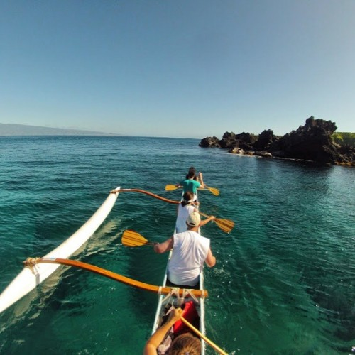 Outrigger canoe paddling with Hawaii Paddle Sports