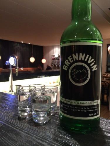 Drinking in Iceland Brennivin schnapps