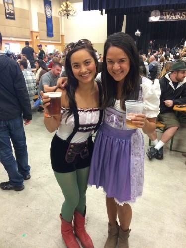 Hot Oktoberfest dirndl girls Leavenworth, WA