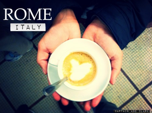 coffee culture in Rome, Itlay