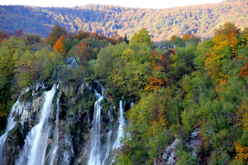 Plitvice in the fall. Croatia