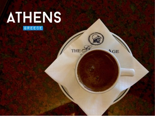 Greek coffee in Athens