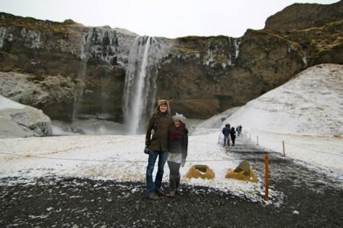 Captain Chris Staudinger and Tawny Clark in Iceland