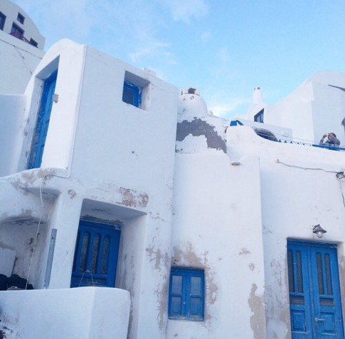 The blue and white of Santorini, Greece