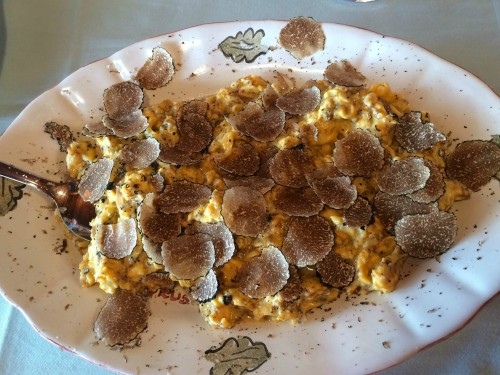 Karlic Tartufi truffle hunt and truffle scrambled eggs