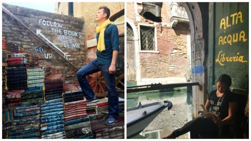 Acqua Alta bookstore Venice Italy
