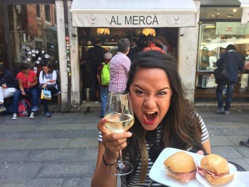 Al Merca cicchettis in Venice Italy