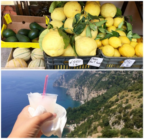 Large lemons in Positano Italy