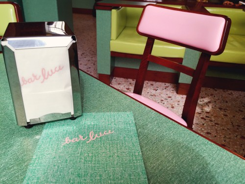 Wes Anderson themed cafe in Milan