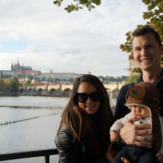 Exploring Prague with baby in tow