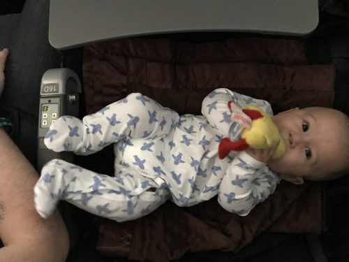 Baby H enjoyed the extra legroom.